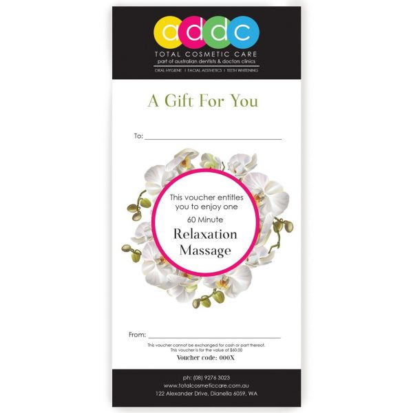 60 Minute Relaxing Massage Gift Voucher 1