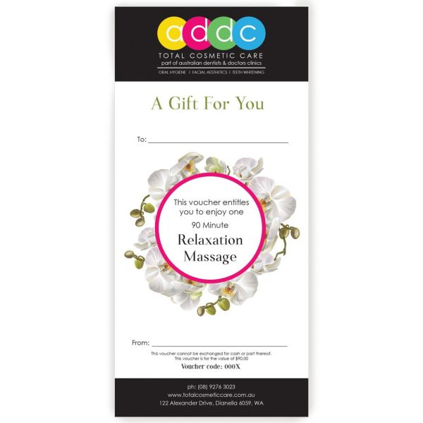 90 Minute Relaxing Massage Gift Voucher 1